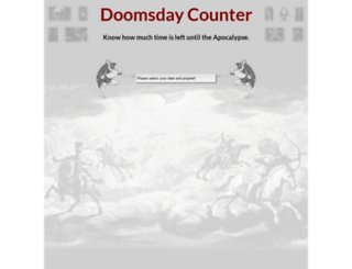 doomsdaycounter.com screenshot