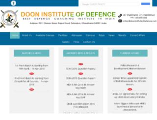 dooninstituteofdefence.com screenshot