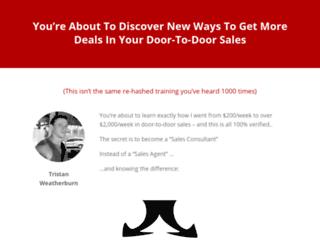 door-to-door-sales-tips.com screenshot