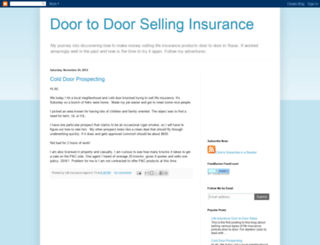 door-to-door-selling-insurance.blogspot.com screenshot