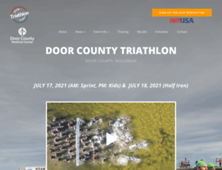 doorcountytriathlon.com screenshot