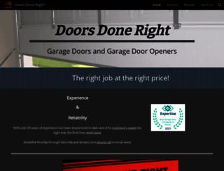 doorsdoneright.com screenshot