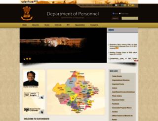 dop.rajasthan.gov.in screenshot