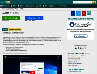 dopdf-free-pdf-converter.soft112.com screenshot