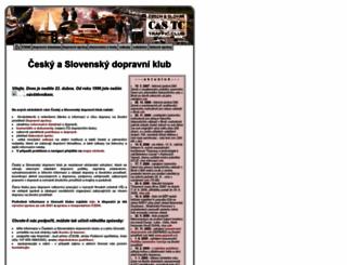 dopravniklub.ecn.cz screenshot
