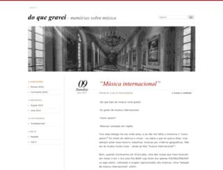 doquegravei.wordpress.com screenshot