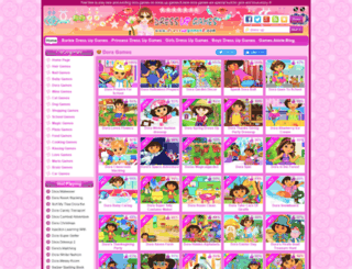 dora.dressupgames8.com screenshot