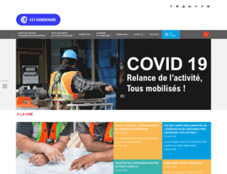dordogne.cci.fr screenshot