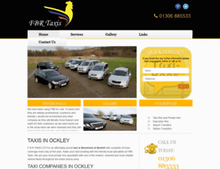 dorking-taxis.co.uk screenshot