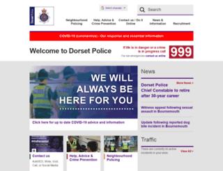 dorset.police.uk screenshot