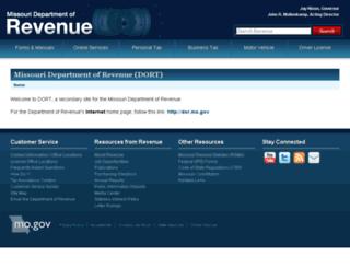 dort.mo.gov screenshot