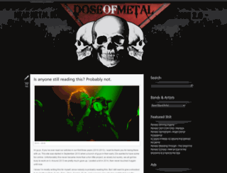 doseofmetal.com screenshot