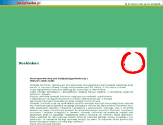 doshinkan.wizytowka.pl screenshot