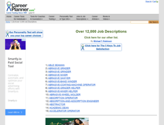 dot-job-descriptions.careerplanner.com screenshot