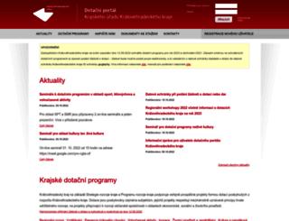 dotace.kr-kralovehradecky.cz screenshot