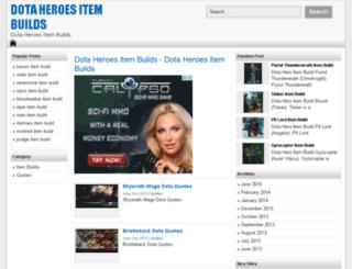 dotaheroesbuilds.com screenshot