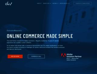 dotcomweavers.com screenshot