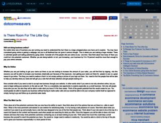 dotcomweavers.livejournal.com screenshot