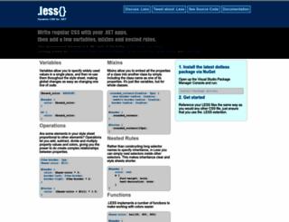 dotlesscss.org screenshot