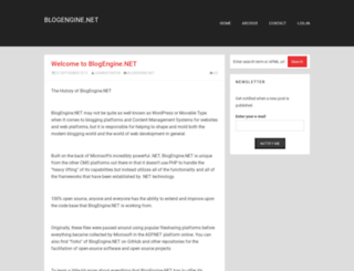 dotnetblogengine.net screenshot