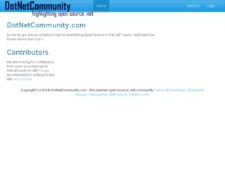 dotnetcommunity.com screenshot