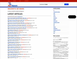 dotnetheaven.com screenshot