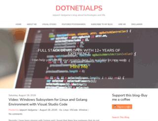 dotnetjalps.com screenshot