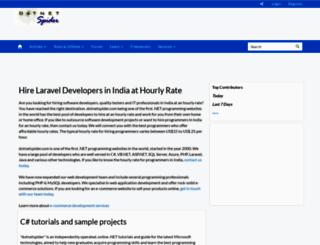 dotnetspider.com screenshot