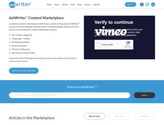 dotwriter.com screenshot