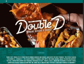 doubledburger.com screenshot