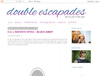 doubleescapades.blogspot.com screenshot