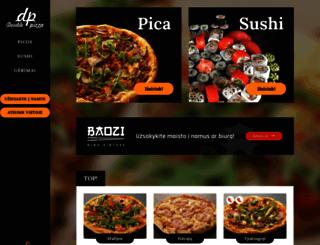 doublepizza.lt screenshot