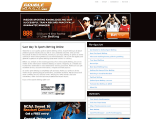 doublesport.org screenshot