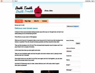 doubletroublekitchenedition.blogspot.ca screenshot