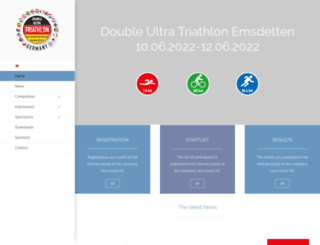 doubleultratriathlon.de screenshot