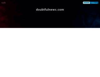doubtfulnews.com screenshot