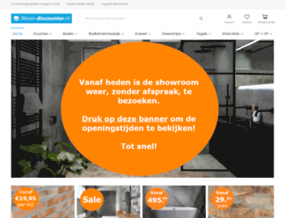 douchewand-discounter.nl screenshot