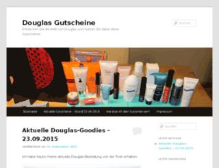 douglas-gutschein.biz screenshot