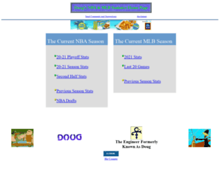 dougstats.com screenshot