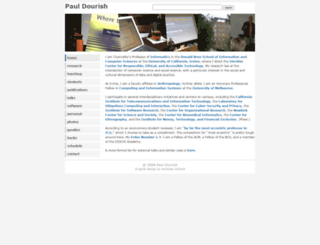 dourish.com screenshot