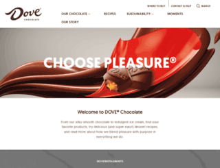 dovechocolate.com screenshot