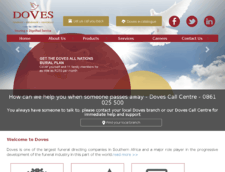 doves.co.za screenshot