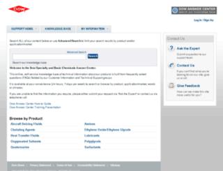 dow-answer.custhelp.com screenshot