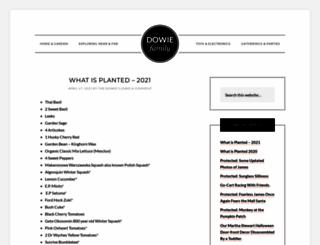 dowiefamily.com screenshot