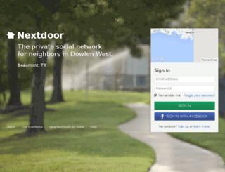 dowlenwest.nextdoor.com screenshot