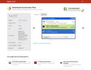 download-accelerator-plus.fileplanet.com screenshot
