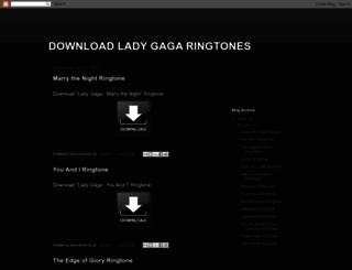 download-lady-gaga-ringtones.blogspot.no screenshot