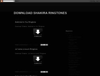 download-shakira-ringtones.blogspot.ie screenshot