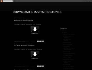 download-shakira-ringtones.blogspot.it screenshot