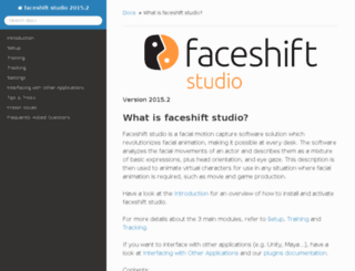 download.faceshift.com screenshot
